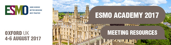 ESMO Academy 2017 Meeting Resources Banner